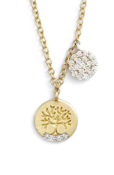 MeiraT 14k Gold Tree of Life Charm Necklace