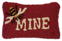 Chandler 4 Corners Bee Mine Hooked Wool Pillow