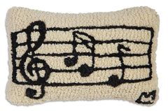 Chandler 4 Corners Music Hooked Wool Pillow
