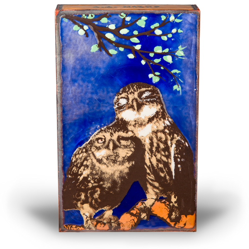 "Houston Llew Feathered Friends Enamel ""Spiritile"""