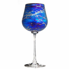 Blown glass wine goblet by Romeo Glass