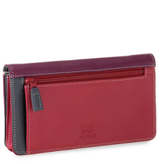 mywalit leather medium matinee wallet in chianti