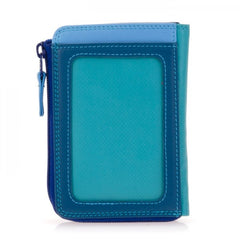 mywalit leather small zip purse in seascape