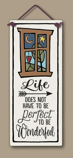 Spooner Creek Large Tall Life Does Not Ceramic Hanging Tile