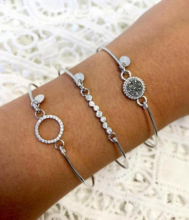 Stia Pave Icon Circle Bracelet