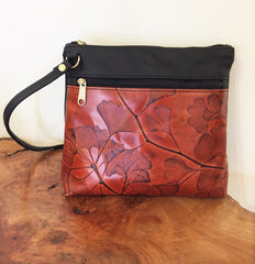 Leaf Leather Gingko Leaf Ladies Small Messenger Bag