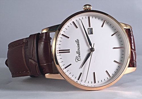 Collinsville Watch Company Main St. in White and Rose Gold-Plate