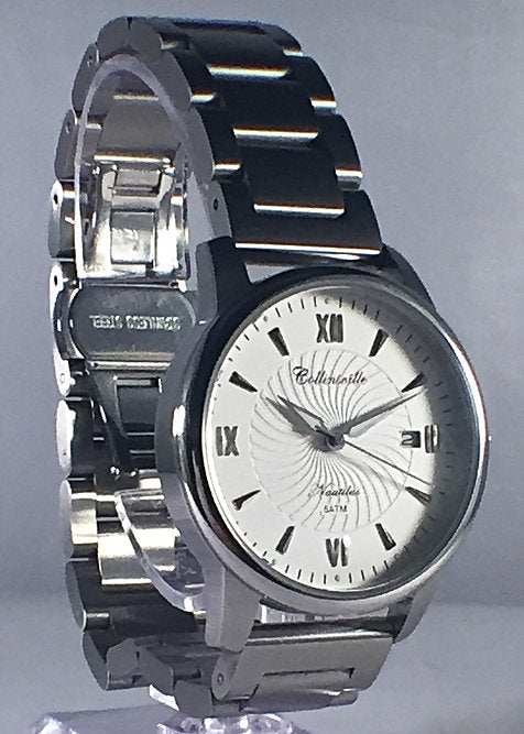 """Collinsville Watch Company Ladies Nautilus in White"