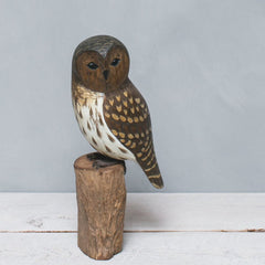 Hand Painted Wood Barred Owl
