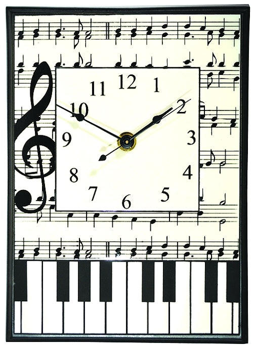 All Fired Up Large Ceramic Clock in Classical Music