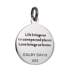 Colby Davis Sterling Compass Rose Pendant Engraving
