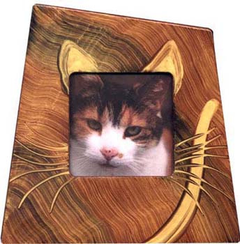 Grant-Noren Hand Painted Faux Finish Cat Picture Frame
