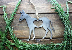 BE Creations Steel Donkey Ornament