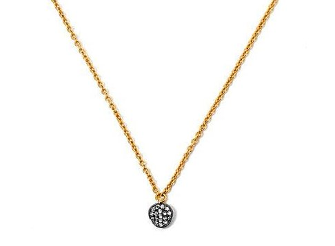 Nadri Sirena Pave Disc Necklace in 18k Gold-Plate with Cubic Zirconias