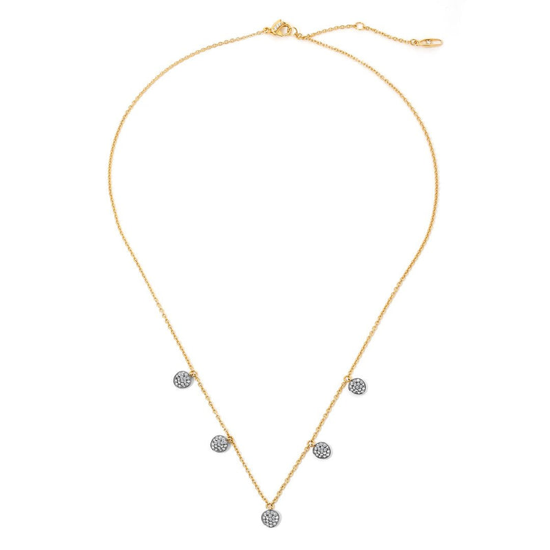 Nadri Sirena Shaky Disc Necklace in 18k Gold-Plate with Cubic Zirconias