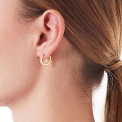 Nadri Small Inside Out Hoop Earrings in 18k Gold-Plate with Cubic Zirconias