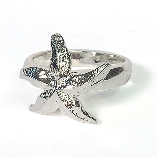 Betsy Frost Sterling Silver Starfish Ring