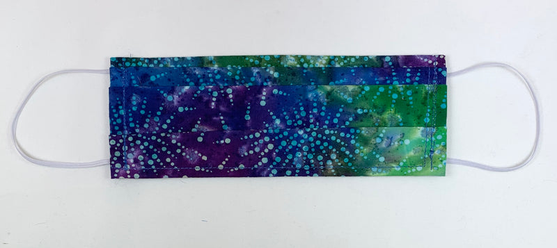 Blue purple fireworks batik