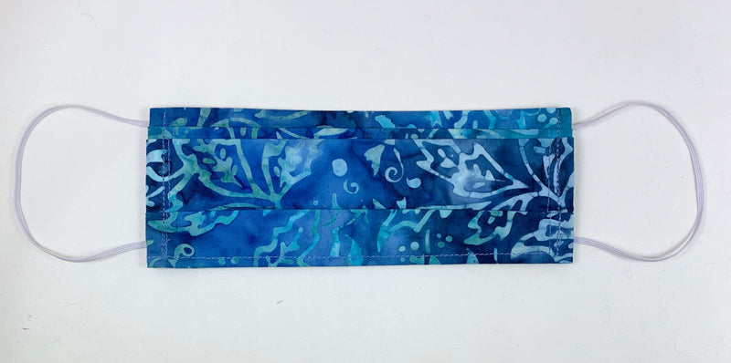 Blue holly batik