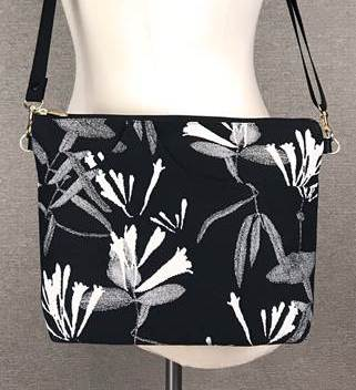 Danny K. Large Zipper Handbag in Honeysuckle Pattern