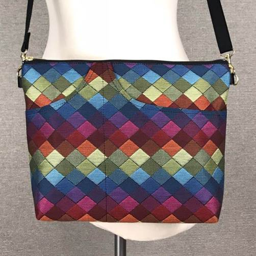 Danny K. Large Zipper Handbag in Jewel Pattern