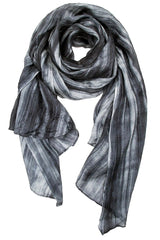 Lua Hand Dyed Silk Scarf in Grey