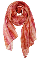 Lua Hand Dyed Silk Scarf in Rose/Blush