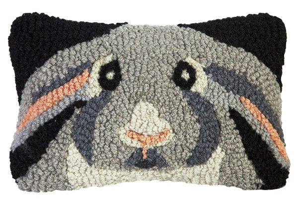 Chandler 4 Corners Rabbit Hooked Wool Pillow