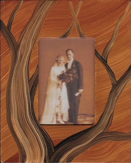 Grant-Noren Hand Painted Faux Finish Picture Frame