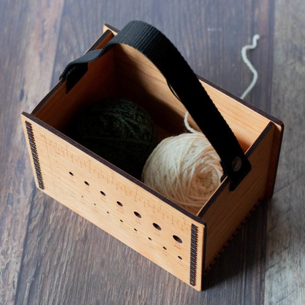 Hannah's Ideas in Wood Yarn Tote Box