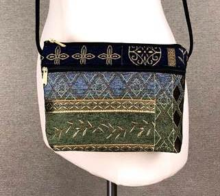 Danny K. Zipper Handbag in Neptune Blue Pattern