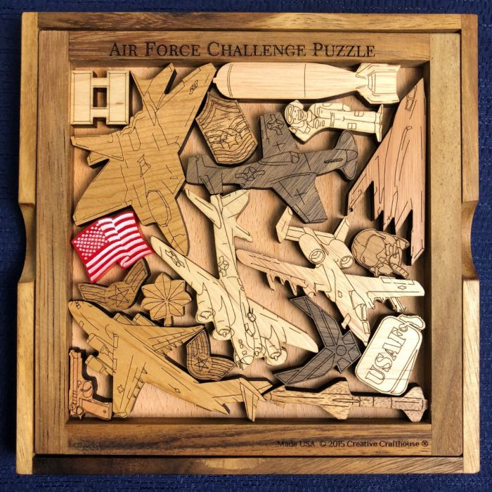 Creative Crafthouse Air Force Wood Picture Frame Puzzle