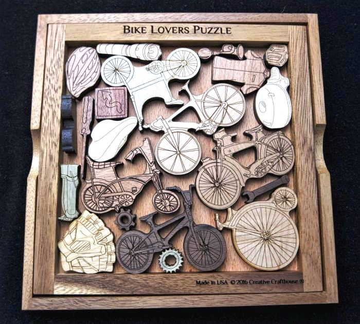 Creative Crafthouse House Wood Bike Lovers Picture Frame Puzzle