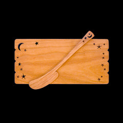 Moonspoon Butter Board with Spreader in Celestial