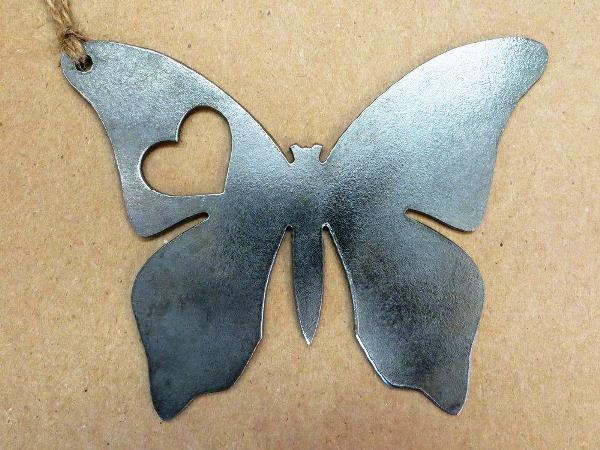 BE Creations Steel Butterfly Ornament