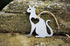 BE Creations Steel Cat Ornament
