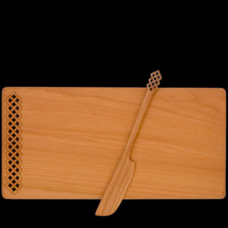 Moonspoon Cheese Board with Spreader in Celtic