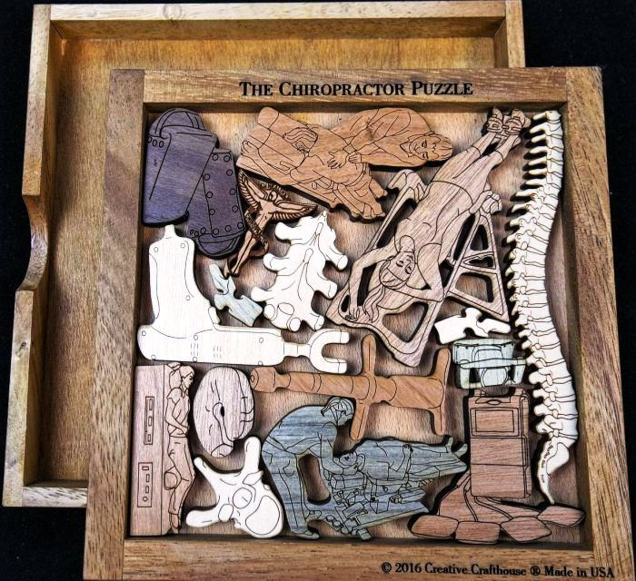 Creative Crafthouse Chiropractic Wood Picture Frame Puzzle