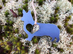 BE Creations Steel Corgi Ornament