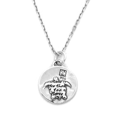 Kevin n' Anna Turtle Small Quotes Necklace
