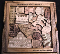 Creative Crafthouse Wood Democratic Party Picture Frame Puzzle