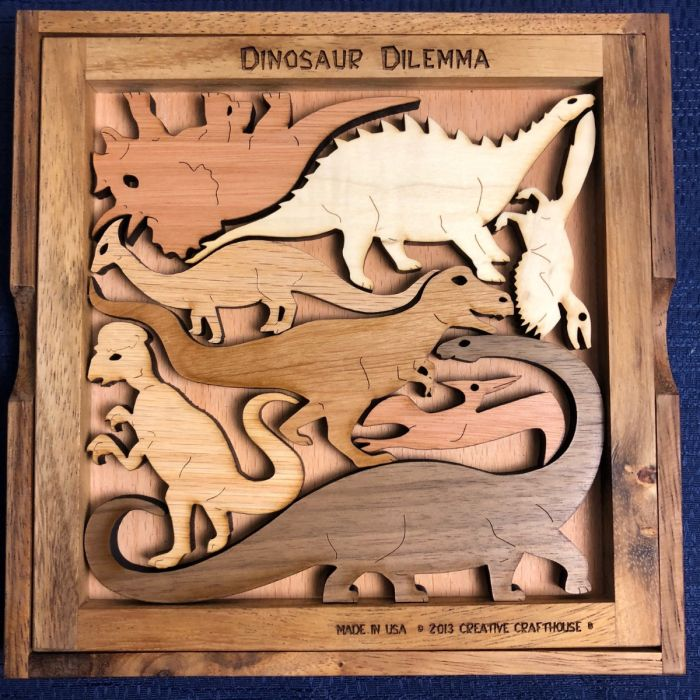 Creative Crafthouse Wood Dinosaur Dilemma 1 Picture Frame Puzzle