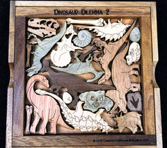 Creative Crafthouse Wood Dinosaur Dilemma 2 Picture Frame Puzzle