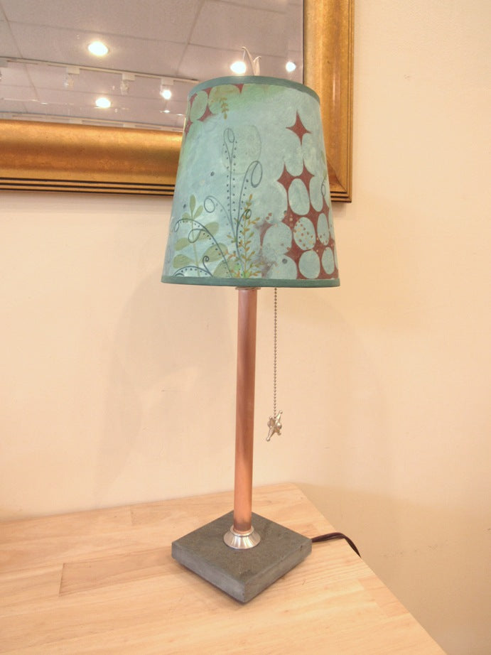Janna Ugone Copper & Slate Table Lamp with Dream Bird Shade
