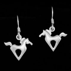 Jeni Benos Sterling Silver Galloping Pony Earrings