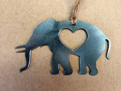 BE Creations Steel Elephant Ornament