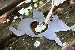 BE Creations Steel Flying Pig Ornament