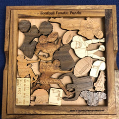 Creative Crafthouse Wood Football Fanatic Picture Frame Puzzle