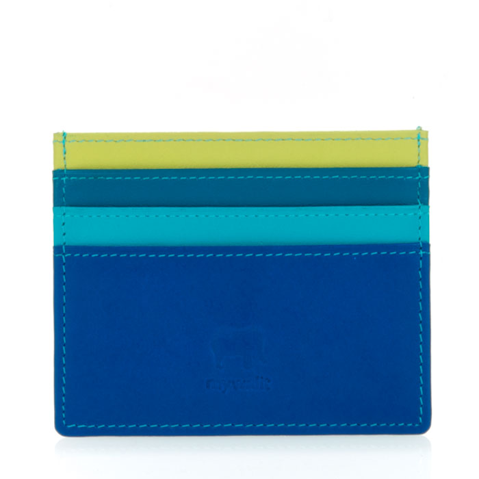 mywalit Leather Credit Card Holder in Seascape