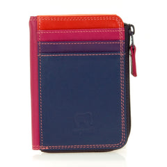 mywalit leather small zip purse in sangria multi